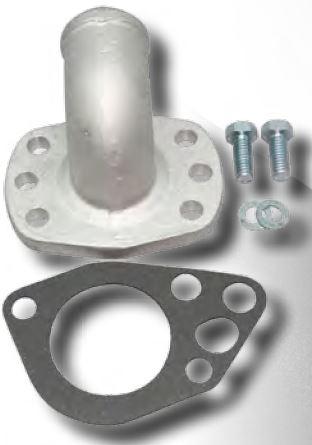 PRW 5244091 Polished Cast Aluminum 90 Water Neck Outlet for Mopar V6//V8//Slant 6